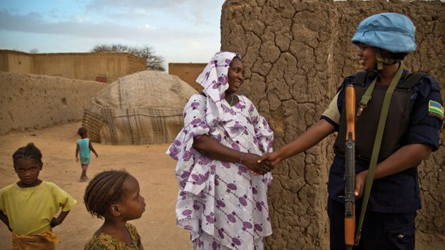 Mali female peacekeeper